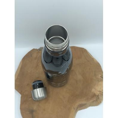 bouteille inox noir marbre 500ml