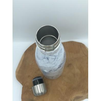 bouteille inox blanc marbre 500ml